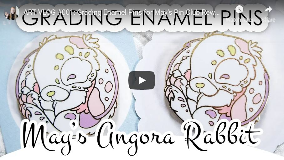 Grading enamel pins May 2019