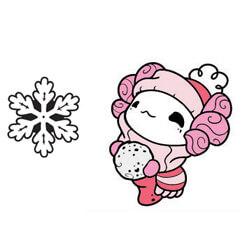 Lottie Snowball & Snowflake Set (black nickel)