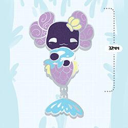 Luna Merlotl Dangle Pin