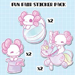 Fun Fair Sticker Pack (set of six)
