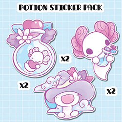 Potions Sticker Pack (set of six)