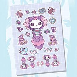 Cheshire Cat Sticker Sheet