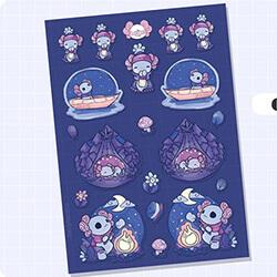 Camping Sticker Sheet