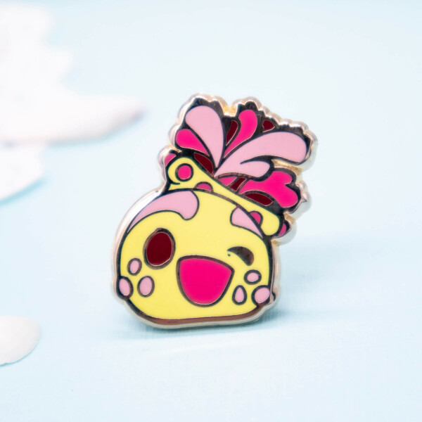 Super cute sea apple chibi enamel pin by Evy Benita