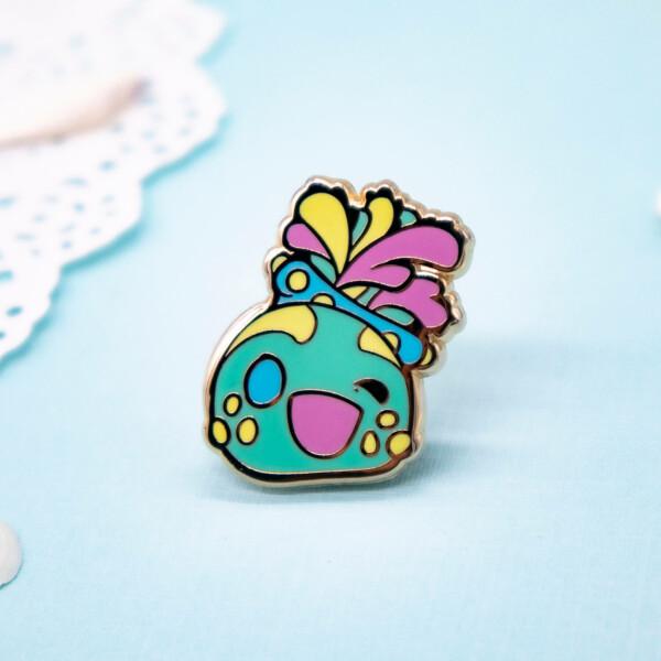 Kawaii sea creature enamel pin by Evy Benita