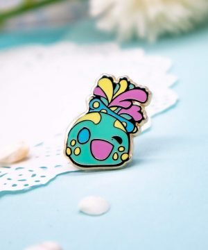 Chibi sea cucumber hard enamel pin by Evy Benita