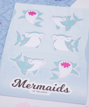 Hammerhead shark sticker sheet in eco-friendly paper