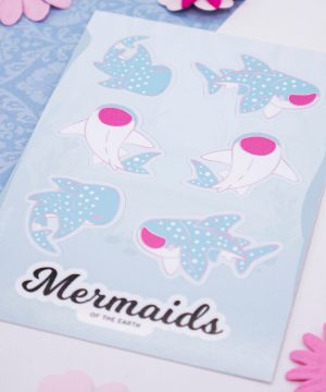 Whale shark sticker sheet in eco-friendly paper