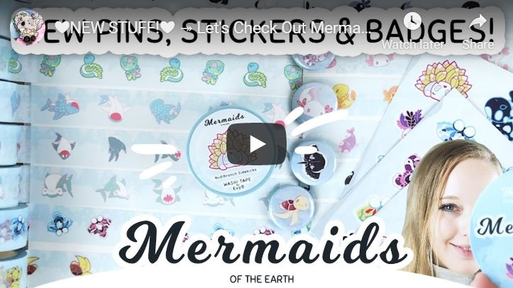 Washis, stickers and badges | Mermaids of the Earth