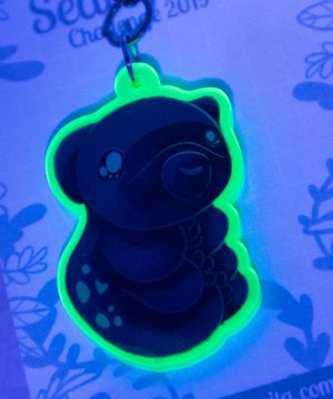 "Kawaii ""water bear"" Tardigrade acrylic charm by Evy Benita"