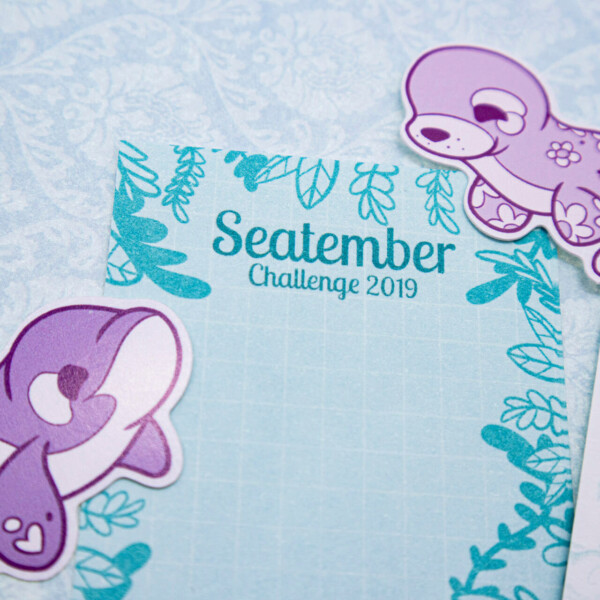 Chibi orca whale and ringed seal waterproof stickers