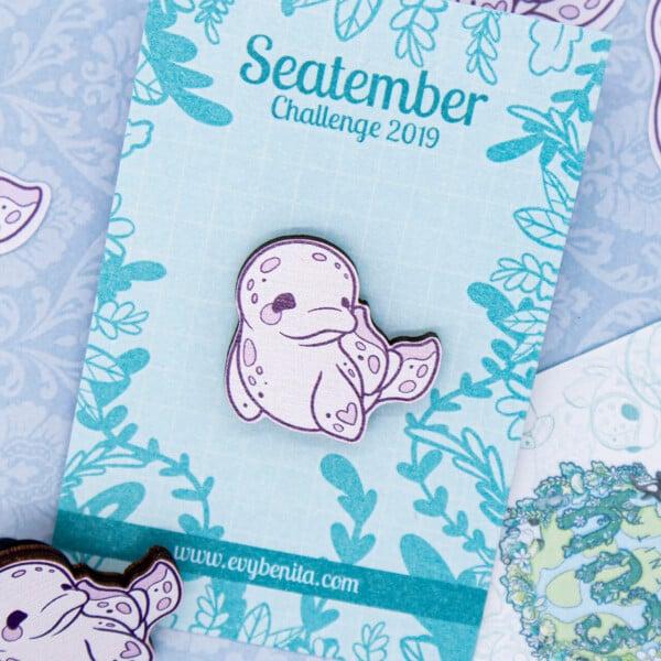 Cute chibi beluga whale pin by Evy Benita. Cute beluga whale illustration drawing.