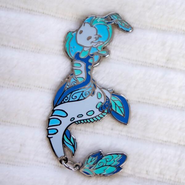 Collectible Seadragon Mermaid Enamel Pin Doll by Evy Benita
