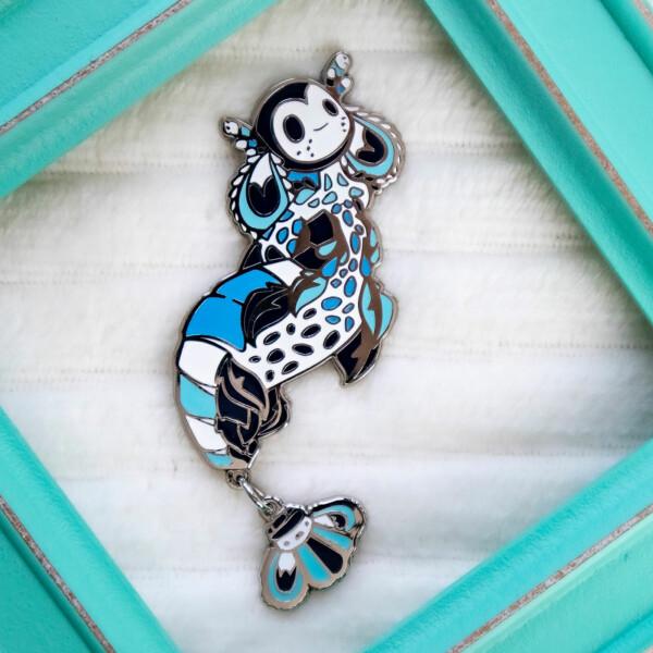 Icy blue harlequin shrimp mermaid species enamel pin by Evy Benita