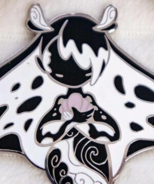 Collectible Manta Ray enamel pin doll by Evy Benita