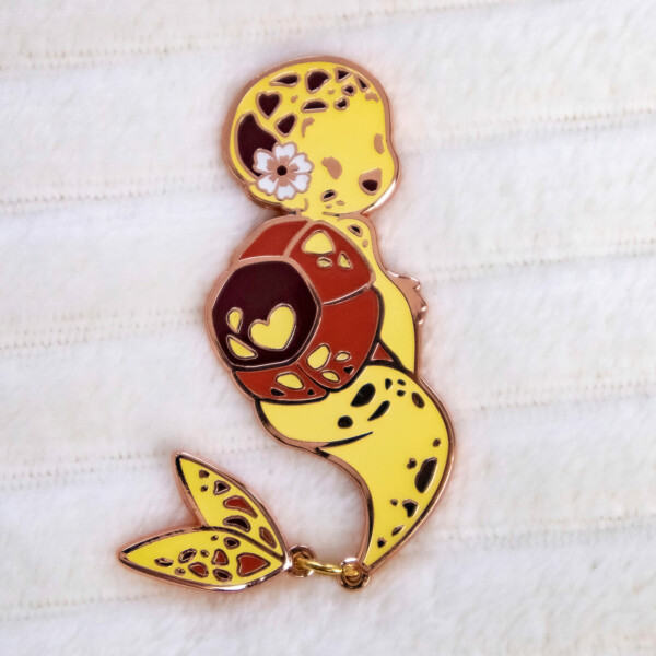 Yellow Hawksbill Sea Turtle Mermaid Species Enamel Pin by Evy Benita