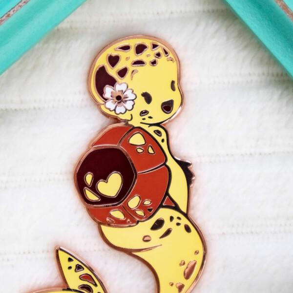 Yellow Hawksbill Sea Turtle Mermaid Species Enamel Pin by Evy Benita - Mermaids of the Earth Collection