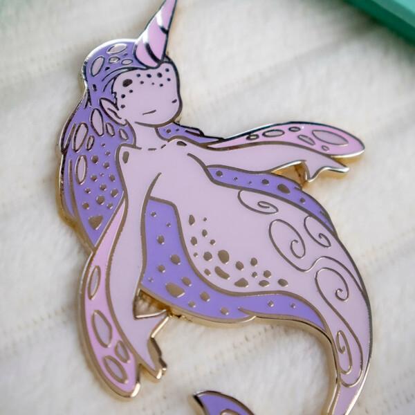 Stunning limited edition fantasy enamel pin by Evy Benita