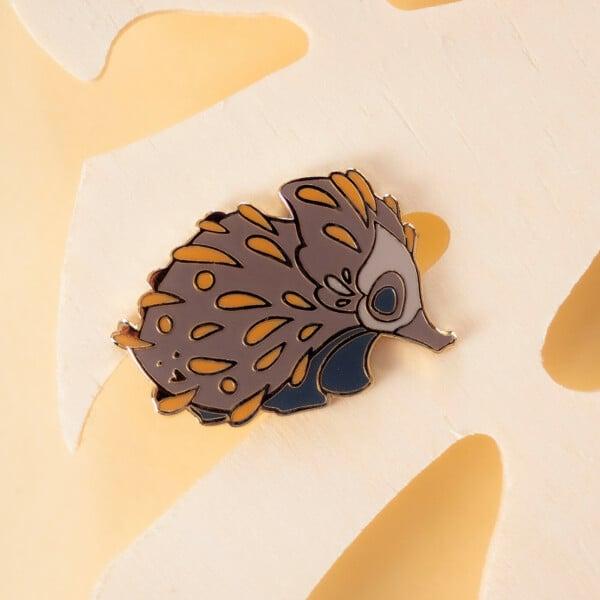 Cute Australian quokka hard enamel pin by Evy Benita