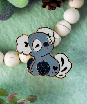 Australian koala hard enamel pin by Evy Benita