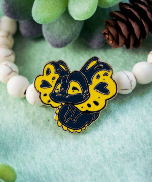 Australian Amara Lizard enamel pin by Evy Benita