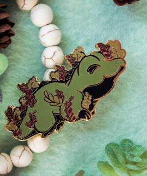 Cute saltwater crocodile enamel pin by Evy Benita