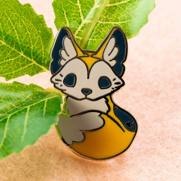 Cute dingo Australian wild dog enamel pin by Evy Benita