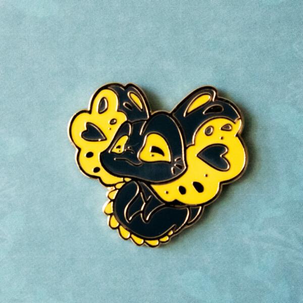 Frilled neck lizard hard enamel pin by Evy Benita