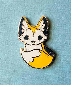 Cute dingo puppy hard enamel pin by Evy Benita