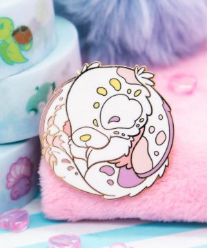 Cute pastel bunny hard enamel pin by Evy Benita