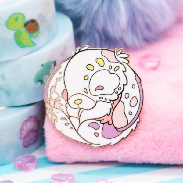 Cute pastel bunny hard enamel pin by Evy Benita
