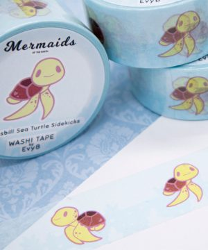 Hawksbill sea turtle washi tape by Evy Benita