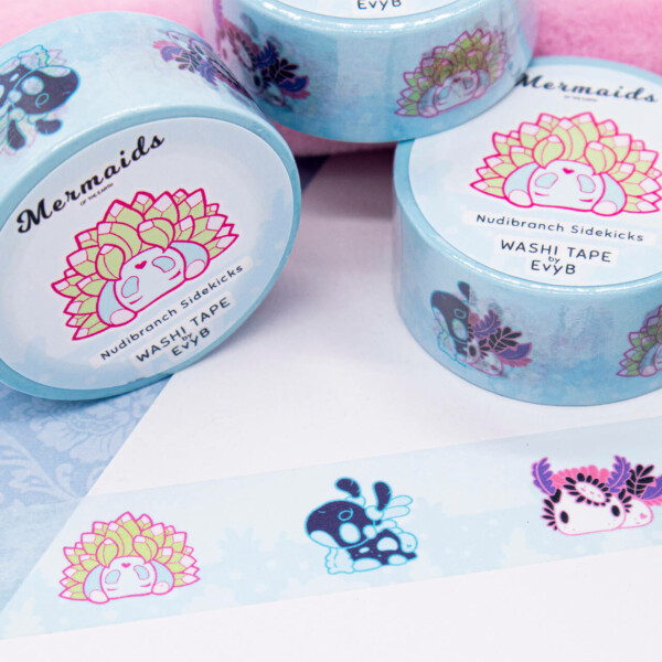 Adorable nudibranch washi tape illustrated by Evy Benita