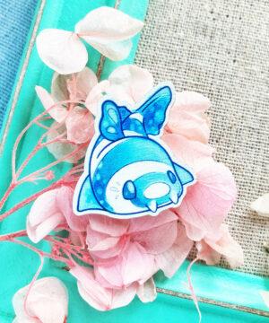 Kawaii Bamboo Shark pin badge by Evy Benita. Lovely and playful aesthetic.