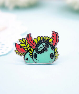 Rainbow jorunna nudibranch enamel pin by Evy Benita