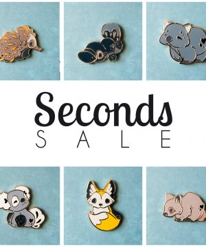 Enamel pin seconds sale