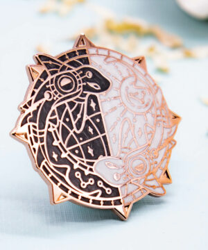 Pearlescent Catshark enamel pin by Evy Benita - Moon Patreon Pin Club Collection