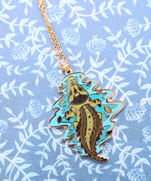 Australian Saltwater Crocodile Necklace Pendant by Evy Benita