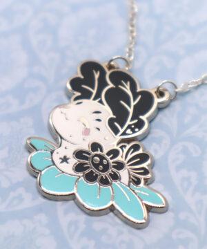 Kawaii sea bunny necklace by Evy Benita