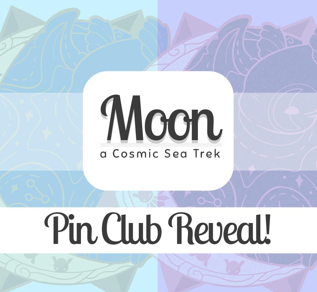 "Evy Benita's Enamel Pin Club Design Reveal - Dumbo Octopus. Text reads ""Moon - a Cosmic Sea Trek - Pin Club Reveal!"""