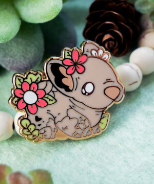 Southern Hairy Nosed Wombat Enamel Pin Pre-Order by Evy Benita