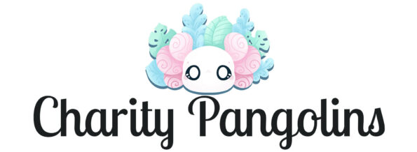 """Evy Benita's logo followed by the title """"Charity Pangolins"""""""