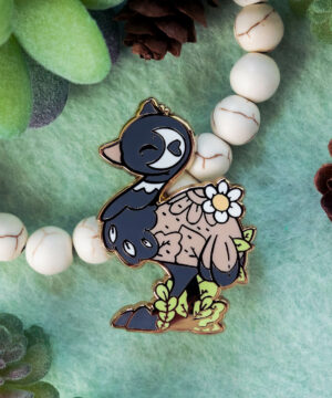 Cute emu enamel pin design by Evy Benita