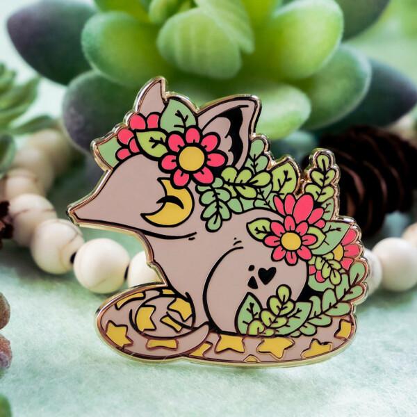 Cosmic Bandicoot hard enamel pin badge by Evy Benita