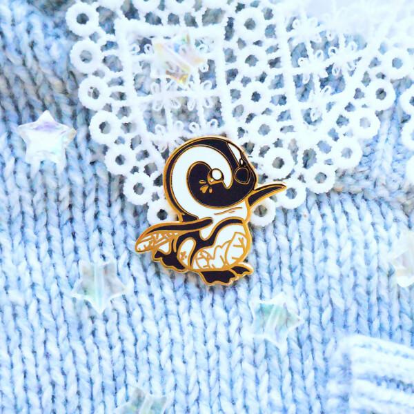 African Penguin hard enamel pin by Evy Benita