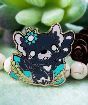 Adorable Tasmanian devil enamel pin design by Evy Benita - maker of cute animal pins