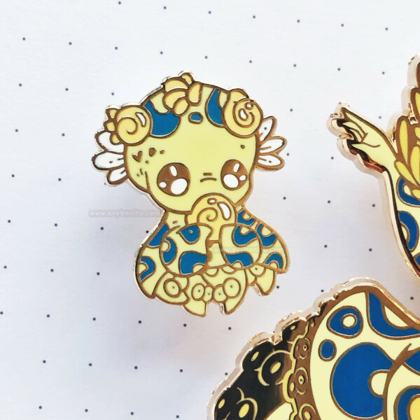 Greater Blue Ringed Octopus Baby Enamel Pin