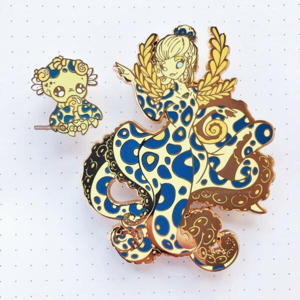 Greater Blue Ringed Octopus Enamel Pin Bundle