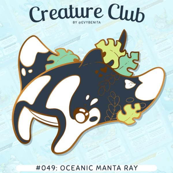 Giant Oceanic Manta Ray enamel pin by Evy Benita