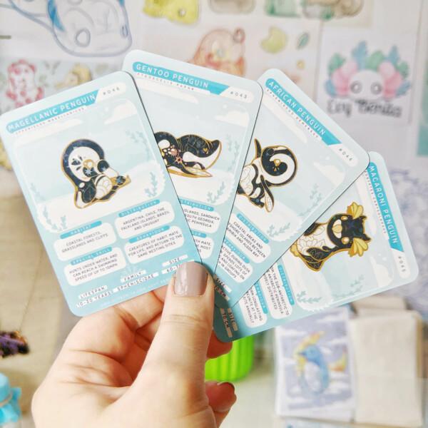Penguin species cards by Evy Benita